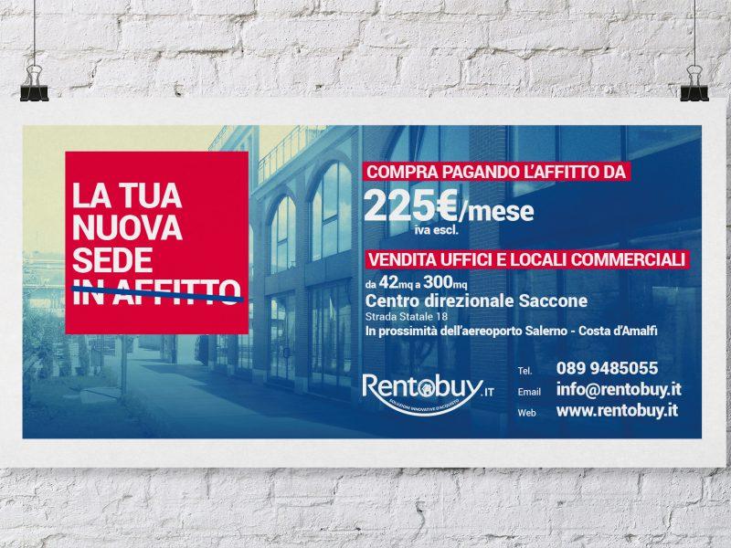 Poster pubblicitario per agenzia immobiliare