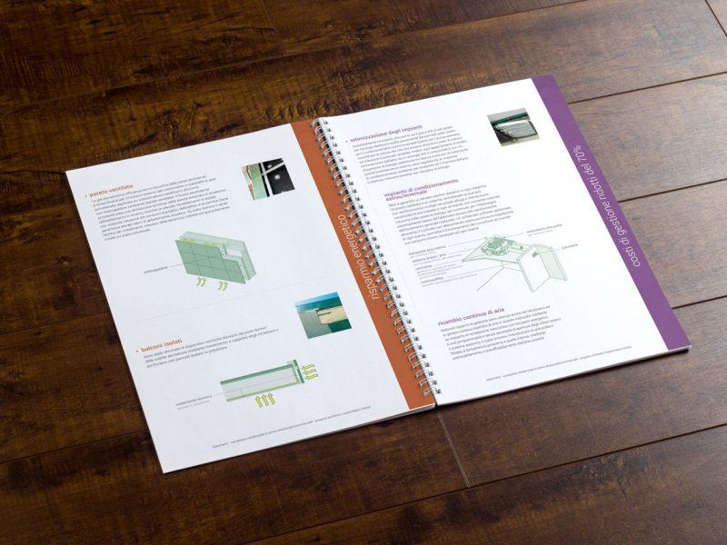 Progetto grafico brochure promozionale per settore immobiliare
