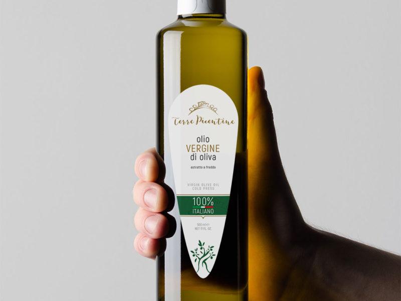 Ideazione e progettazione logo ed etichetta packaging di olio d'oliva