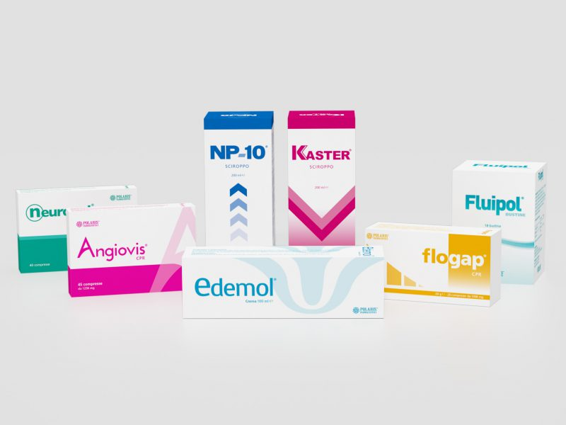 Studio grafico packaging prodotti farmaceutici