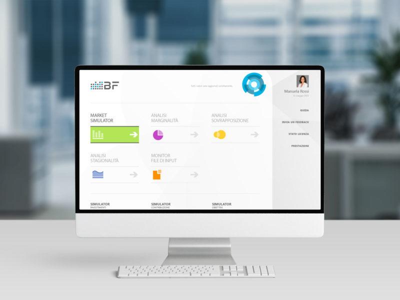 Progettazione interfaccia grafica software gestionale