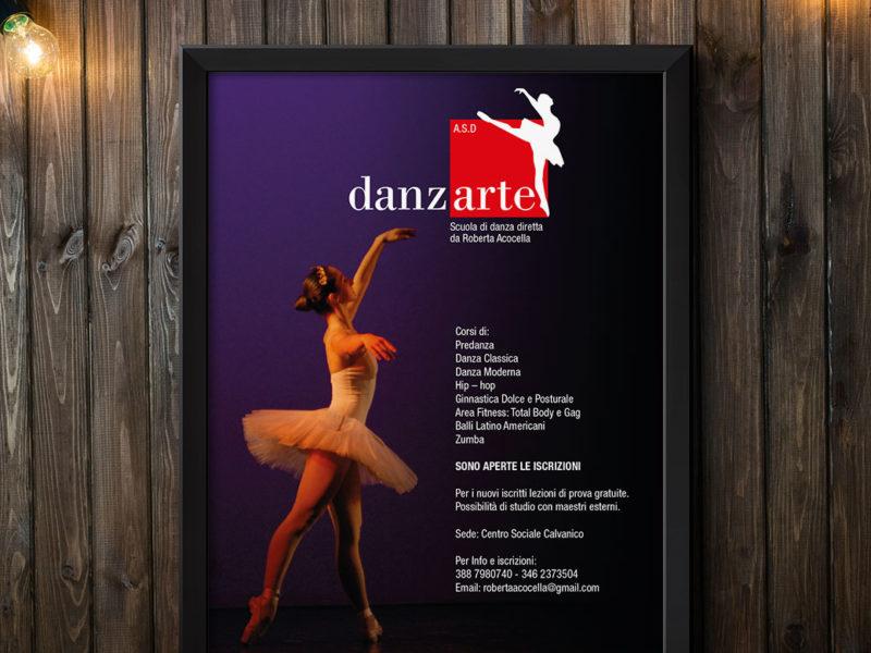 Progettazione grafica locandina per scuola di danza di Salerno