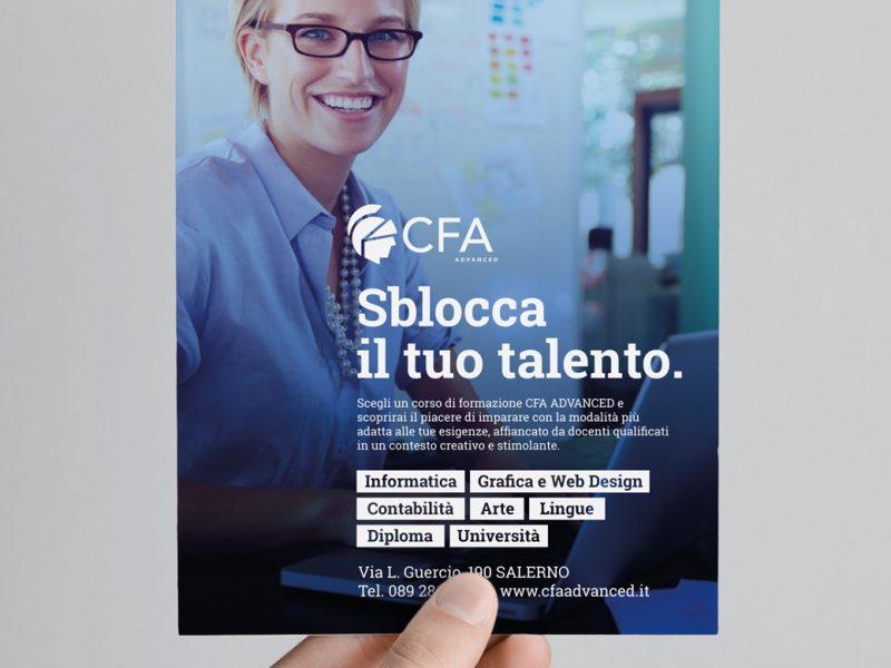 Studio grafico campagna pubblicitaria scuola di formazione a Salerno
