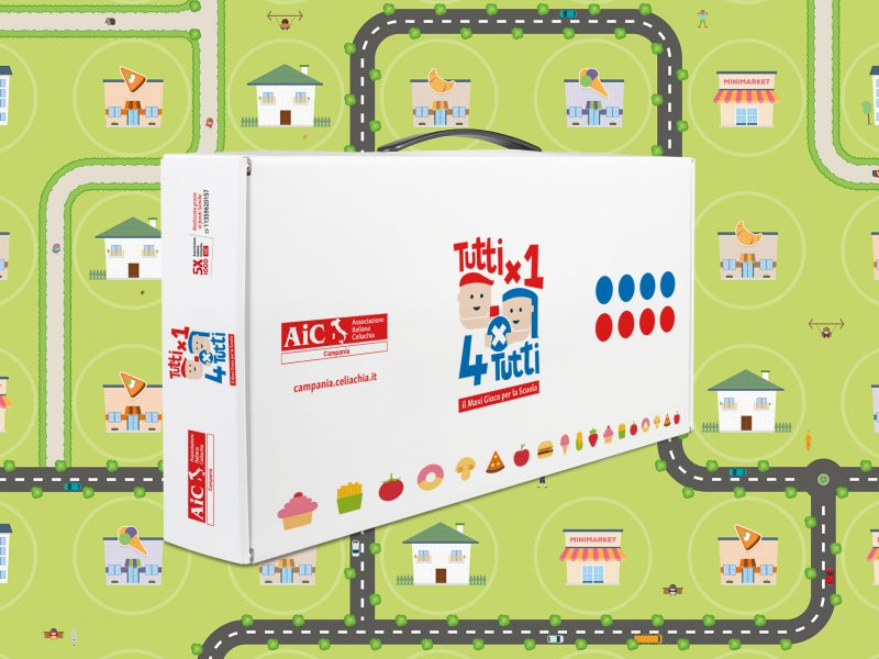 Ideazione e progettazione grafica maxi gioco per le scale per un'associazione non-profit